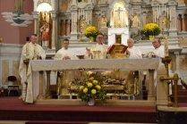 l-r, Fr. Michał Czyżewski, Administrator of Corpus Christi Parish in Buffalo; Fr. Michał Lukoszek, Vicar General of the Pauline Order; Fr. General Arnold Chrapkowski' Fr. Władysław Dudek, Fr. Stanisław Dudek.