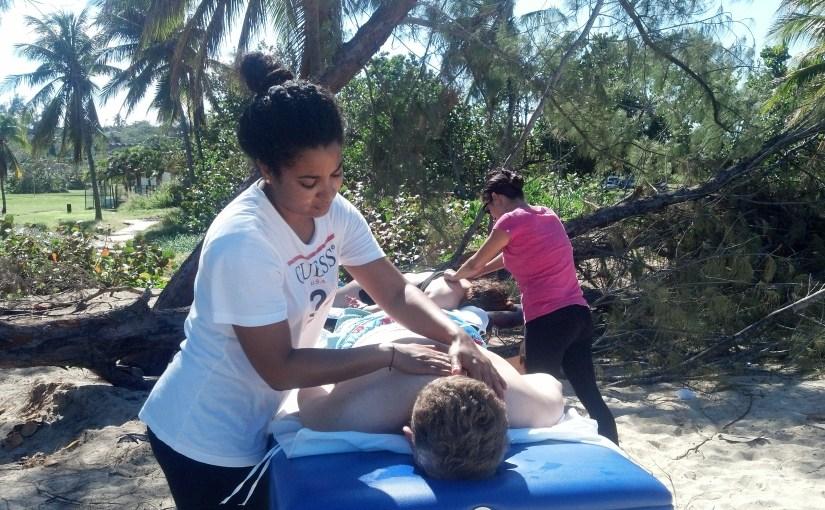 playa y masajes