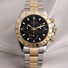 rolex daytona, oro, acciaio, cassa nera, corrado firera, orologi da polso di lusso