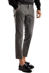 pantaloni per uomo, a righe grigi