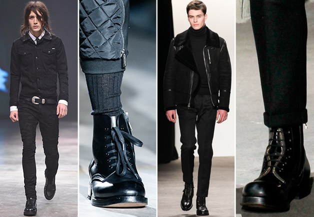 accessori per uomo, stivali neri
