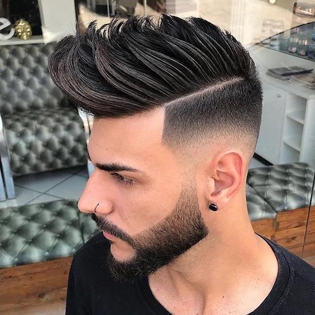 Acconciatura da uomo a banana, capelli corti per uomo