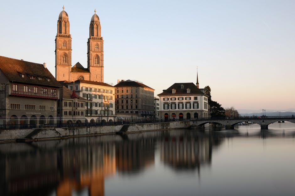 Zürich Cathedral at sunset