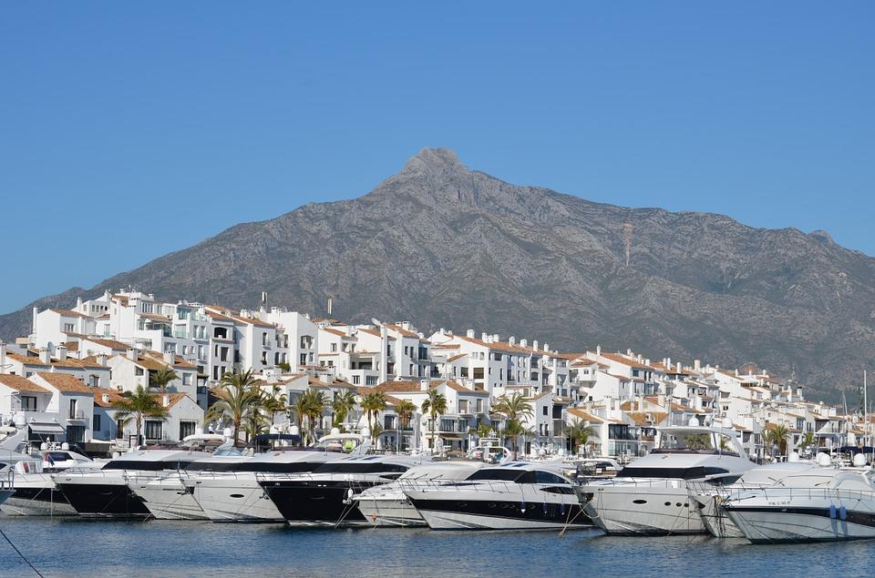 The Marbella coastline