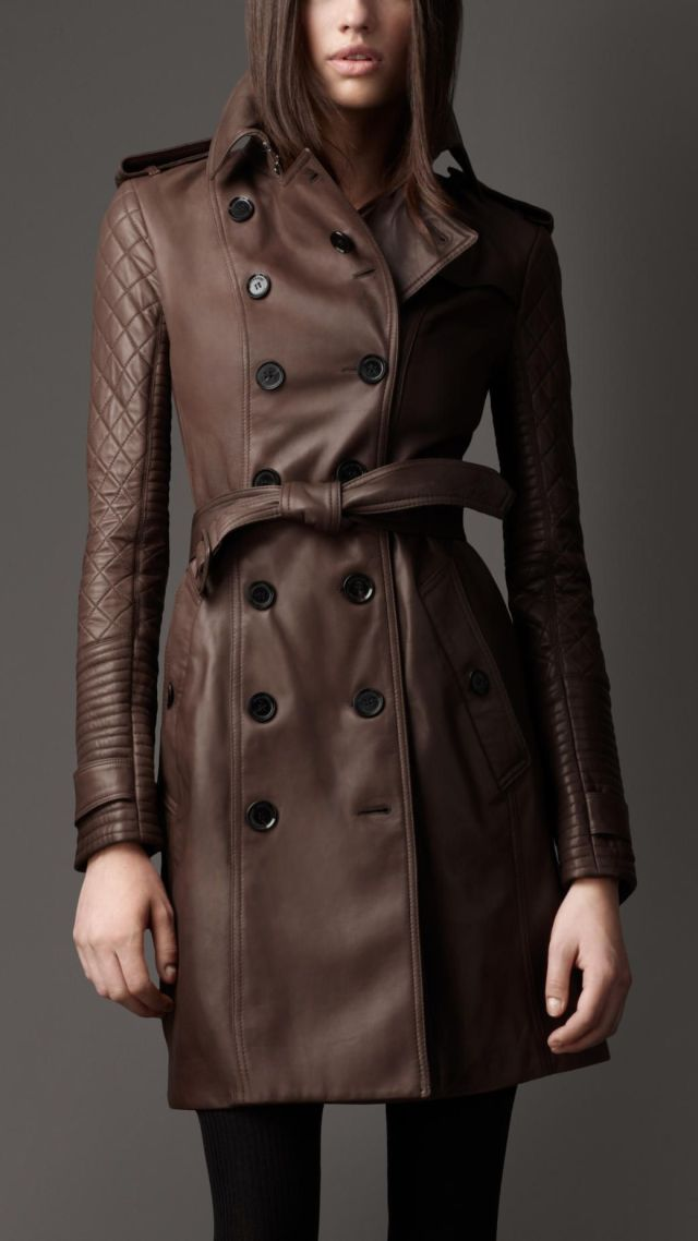 cappotto trench marrone donna
