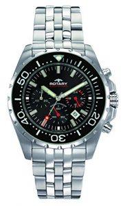 Rotary Cronografo Quarzo Orologio da Polso AGB00013/C/04S, orologi svizzeri