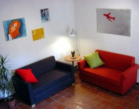 Sala de estar de apartamento en el Corral del Conde