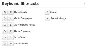 pardot shortcuts