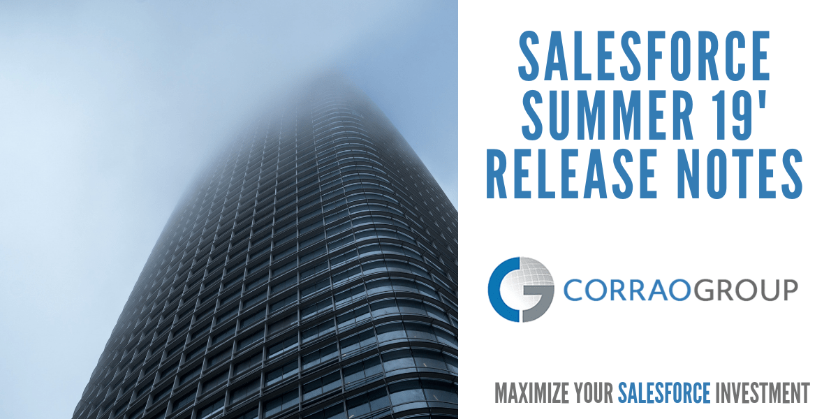 Salesforce Summer 19′ Release Notes Features