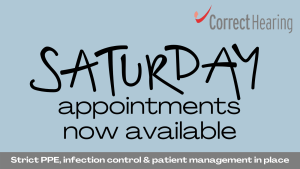 Saturday hearing and wax removal appointments