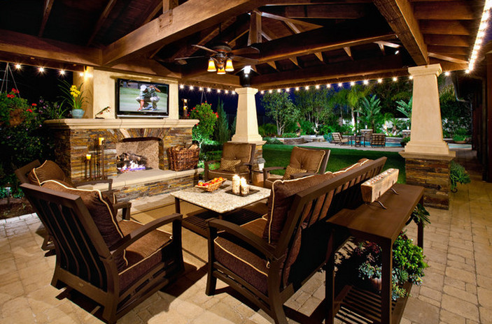 Covered Patios With Fireplaces  Interesting Ideas For Home