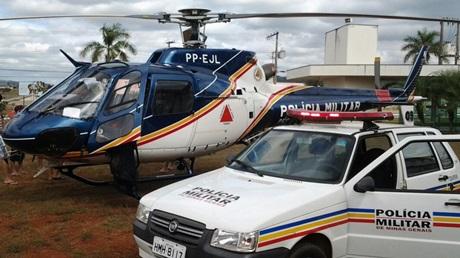 Patrulha aérea reforça policiamento no último dia de festa em Vazante