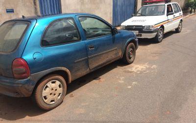 Policia de Vazante recupera veiculo roubado
