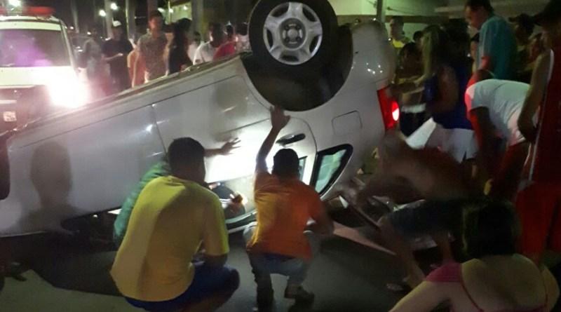 VAZANTE: vereador sofre acidente no bairro Serra Dourada