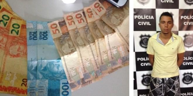 GENARC prende suspeito de tráfico, apreende droga e dinheiro em Pontalina