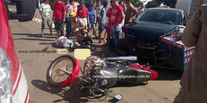 Mais um acidente na Av. Coronel Pedro Nunes deixa motociclista ferido