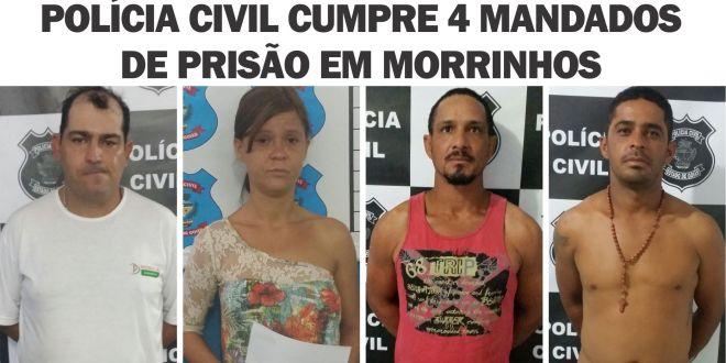 Mandados de prisão são cumpridos em Morrinhos. Mais 4 são detidos pela PC