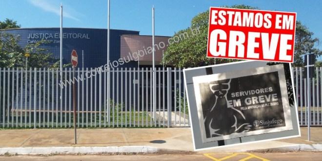 GREVE: Cartório Eleitoral segue fechado para o público em Morrinhos