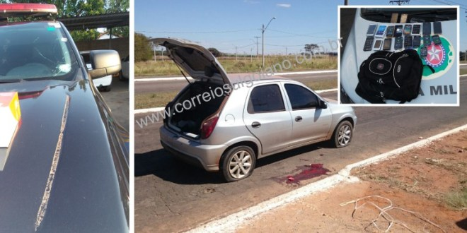 Em fuga suspeitos de roubo trocam tiros com GPT – um suspeito morreu