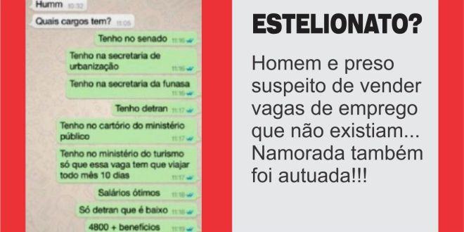 Estelionato: Preso em Goiânia suspeito de vender vagas de emprego fictícias