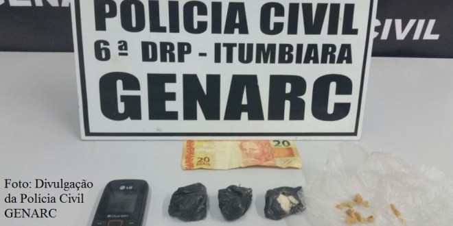 GENARC de Itumbiara apreende drogas e prende suspeito de tráfico