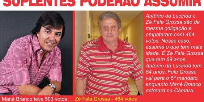 Zé Fala Grossa e Mané Branco poderão assumir mandatos de vereador em Morrinhos
