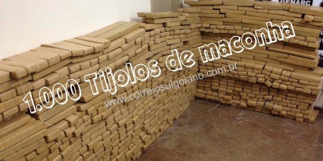 GENARC de Itumbiara apreende mais de 1.000 tijolos de maconha e prende suspeitos