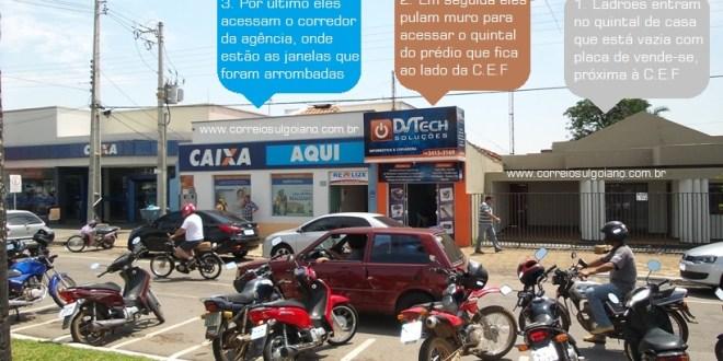 Furto na Caixa Econômica em Morrinhos não deu certo. Nenhum dinheiro foi levado
