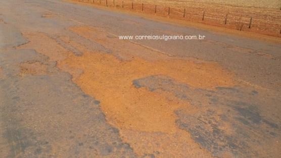 GO-320, região de Joviânia e Vicentinópolis - Péssimo asfalto