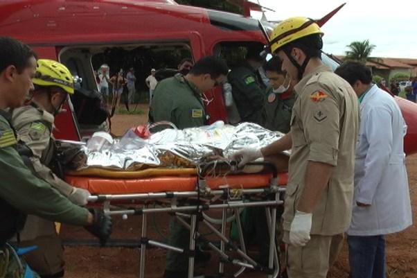 Após morte, homem foi retirado do helicóptero