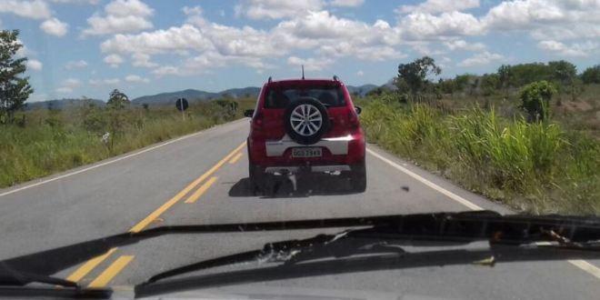 Veículo roubado em Brasília é recuperado pela Polícia Rodoviária Federal, na Bahia