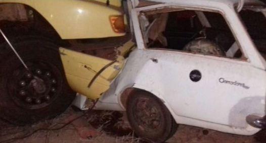Colisão frontal provoca morte do condutor do carro