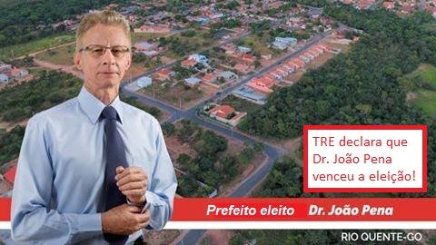 Dr. João Pena será prefeito de Rio Quente! TRE/GO acatou recurso e declarou médico vencedor