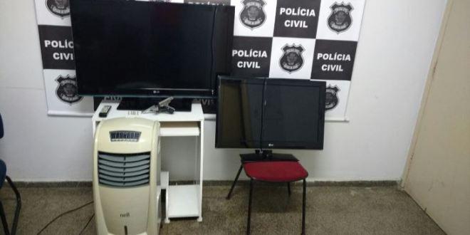 Polícia Civil apreende arma de fogo e outros produtos furtados, em Caldas Novas…