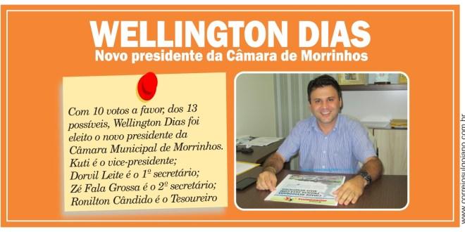 Mesa diretora da Câmara de Morrinhos foi definida após posse dos vereadores Wellington Dias é o presidente