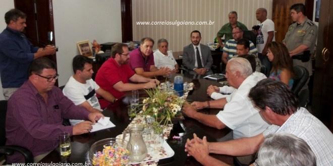 Prefeito e Presidente da Câmara promovem reunião com autoridades para discutir Segurança Pública em Morrinhos