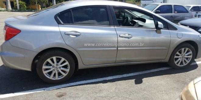 Honda Civic é roubado em Morrinhos! PM age rápido e recupera o veículo menos de 12 horas após o roubo. Veja!