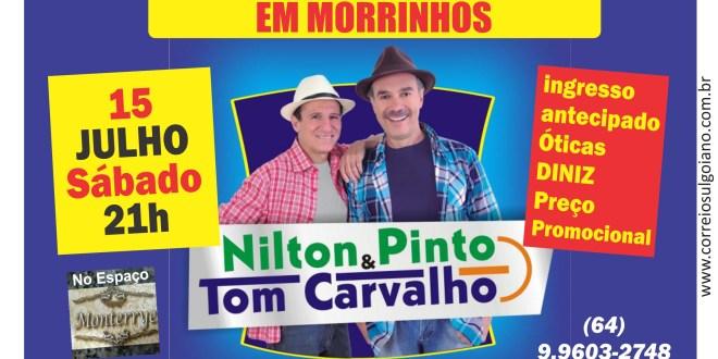 ENTREVISTA: Nilton Pinto & Tom Carvalho. Dupla se apresentará em Morrinhos dia 15 de julho