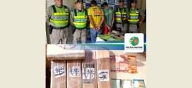 Dois moradores de Morrinhos foram detidos pela Polícia Rodoviária Estadual transportando maconha