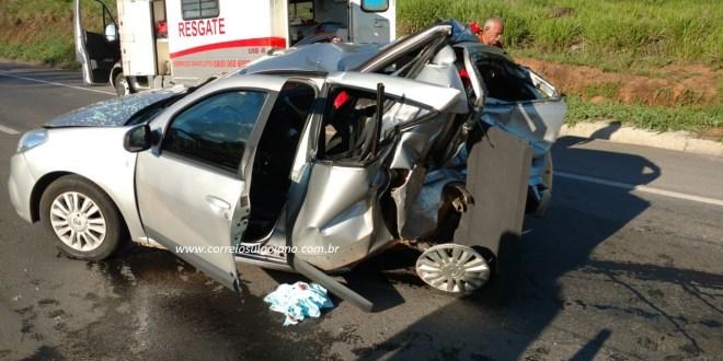 Curiosidade pode ter sido causa de um pequeno engavetamento na BR-153, em Morrinhos! 03 ficaram feridos