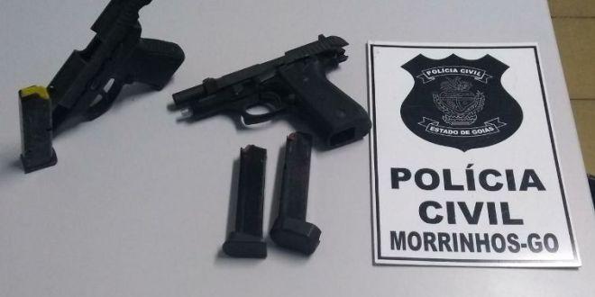 Polícia Civil descobre que facção criminosa planejava furtos e outras ações em Morrinhos a apreende armas
