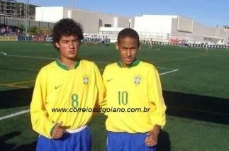Phillipe Coutinho e Neymar Júnior