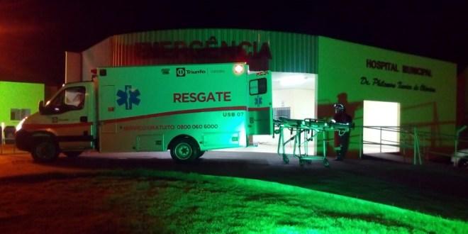 BR-153: Homem e mãe caem da moto e ficam gravemente feridos no município de Morrinhos