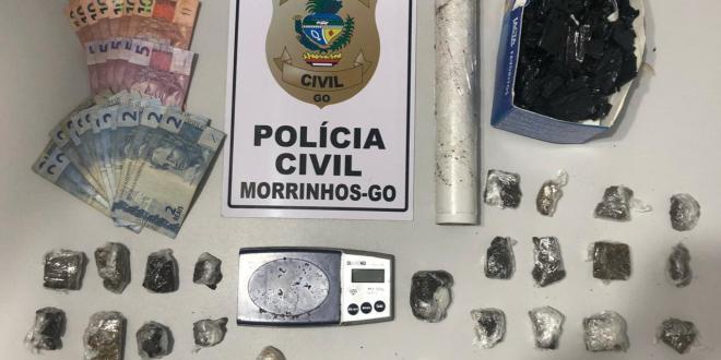 TRÁFICO: Polícia Civil prende duas mulheres e apreende menor suspeitas de tráfico de drogas em Morrinhos