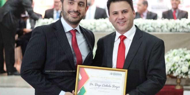 Juiz Dr. Diego Custódio Borges é homenageado pelo Corpo de Bombeiros e Câmara de Morrinhos em reconhecimento ao seu trabalho