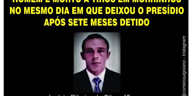 Homem é morto a tiros em Morrinhos no 4º homicídio do ano registrado em nossa cidade!!!