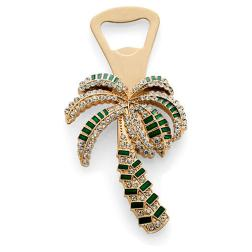 Palm Tree Bottle Opener, Gold Green