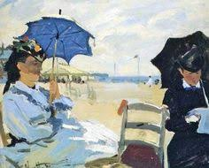 Monet. Camille en la playa de Trouville