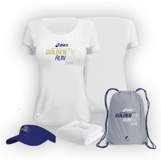 Kit Feminino Asics Golden Run RJ