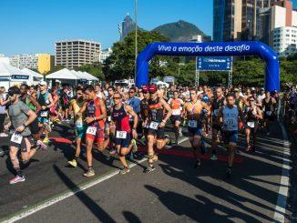 Largada da primeira etapa do Duathlon do Circuito UFF Rio Triathlon. Foto de Gabriel Heusi/Heusi Action/Divugação